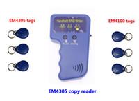 5pcs RFID Handheld Copier reader,125Khz duplicate device ID Card Copy write, 3 copied EM4305+ 3 EM4100
