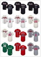 ingrosso jersey kemp-Uomo delle donne della gioventù Atlanta 27 Matt Kemp 2 Michael Bourn 22 Nick Markakis personalizzate di baseball del pullover Braves