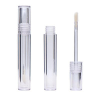 Wholesale lip gloss tube for sale - Group buy Lip Gloss Tubes Empty ML Lipgloss Tubes Round Transparent Lip Gloss Tubes With Wand Empty Clear EEA1713