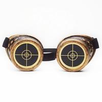 óculos de soldagem vintage venda por atacado-C.F.GOGGLE Steampunk Óculos Retro Gótico Soldagem Cyber Punk Do Vintage Óculos De Sol Dos Homens Óculos De Sol De Plástico Adulto Cosplay Eyewear