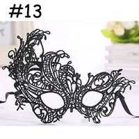 Wholesale black half masks for adults resale online - Fashion Lace Mask For Halloween Masquerade Ball Party Fancy Dress Costume black mask cheap masquerade masks