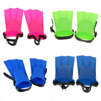 Wholesale kids swim tools for sale - Group buy 4 Colors Rubber Swimming Fins Adults Kid Adjustable Flippers Fins Swimming Diving Learning Tools S M L XL for Equipment