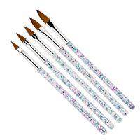 Wholesale tool salons for sale - Group buy 5Pcs set mm Nail Art Crystal Brush UV Gel Builder Painting Dotting Pen Carving Tips Manicure Salon Tools HHA138