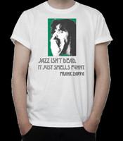apenas camisas brancas venda por atacado-JAZZ NÃO ESTÁ INOPERANTE APENAS CHEIRA ENGRAÇADO Frank Zappa CITAÇÃO T-Shirt ENGRAÇADO Branco CINZA