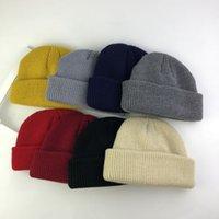 9862c5e5bc0 Fashion Men s Women Beanie Knit Ski Cap Hats Hip-Hop Blank Color Winter  Warm Unisex Wool Hat Casual