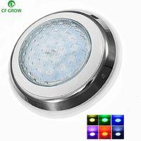 havuzlar için 12v led ışıkları toptan satış-LED Yüzme Havuzu Işık IP68 Su Geçirmez AC / DC 12 V 12 W 15 W 18 W Açık RGB Sualtı Işık Göleti Led Piscina Luz Spot