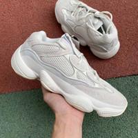 ingrosso scarpe da basket kanye-marchio di moda di lusso off uomo donna Kanye scarpe da basket piattaforma di design per uomo 500 sneakers bianche osso scarpa casual stella mocassino casual