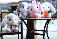 weißer kaninchenplüsch großhandel-Kreative lop Kaninchen Puppe weich niedliches weiße Kaninchen Plüschtier Baby Begleitschlaf Spielzeug Geschenk der Kinder neue Art