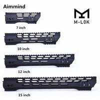 ar 15 montaje al por mayor-AR-15 M4 M-LOK guardamanos 7 10 12 15 pulgadas Slim Free Float Handguard Picatinny Rail Mount Bracket