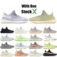 Wholesale zebra sports resale online - Black Kanye men shoes Glow Cream White Zebra Blue Tint women sport Running shoes Antlia luxury designer Sneaker boots Size