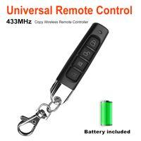 code alarme à distance achat en gros de-433MHZ Paire Auto Remote Copy 4 canaux Garage Porte Porte télécommande clé Code de sécurité sensible Alarme Portes électronique