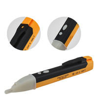 ac sensor pen großhandel-Spannungsanzeige Steckdose Steckdose Spannungsprüfer Sensor Tester Stift LED-Licht 90-1000 V Elektrowerkzeuge CCA11676 50 stücke
