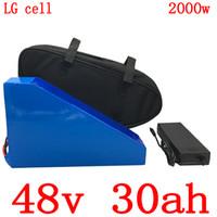 bateria de iões de lítio telemóvel venda por atacado-1000W 2000W 48V 30AH 48V 30AH bateria elétrica moto ebike Bateria 48V Lithium uso bateria de iões LG carregador de celular com BMS + 5A 50A