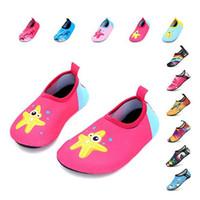 ingrosso ragazze scarpe a piedi nudi-Scarpe per bambini Colorfur Summer New Arrive Water Shoes Bambini Barefoot Kids Girls Boys Swimming Slippers Quick Dryi