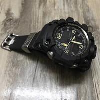 montre de boussole de luxe achat en gros de-2020 Nouveau mode GWG style Shock Montre 1000 LED numérique Sport G Montres-bracelets Boussole Thermomètre Montre Homme Homme de luxe de haute qualité