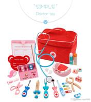 arzt spielzeug großhandel-Kinderspielhaus Arzt Spielzeug-Set Puzzle Simulation Tasche Medizin-Box Simulierte Krankenschwester Injektion Medical Kit Kinder bis