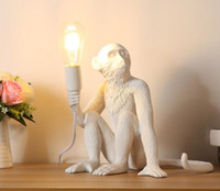 Wholesale seletti for sale - Group buy 2019 Modern Black Monkey Hemp Rope Pendant Light Fashion Simple Art Nordic Seletti Hanging Monkey Lamp