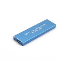 pc sabit diskler hdd toptan satış-USB 3.1 SSD Tip-C NGFF M.2 SSD 128G Sabit Disk Kutusu Mobil Sabit Disk Depolama Aygıtları PC için Harici HDD Durumda