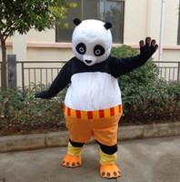 desenhos animados da panda do natal venda por atacado-Dia das bruxas Kung Fu Urso Panda Mascote Traje de Alta Qualidade Dos Desenhos Animados Animal Anime personagem do tema Do Partido Do Carnaval de Natal Fantasia Trajes