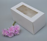 weiße plastikboxen großhandel-15 Größen quadratischer weißer Papierpapierseifenkasten mit PVC-Fenster, Plastikfenstergeschenkkasten, Verpackungsfenstergeschenkkasten