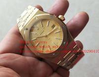 relojes mecánicos ultra delgados al por mayor-última versión de lujo relojes 9mm oro amarillo de 18K 39mm ultra-delgada esfera amarilla relojes de alta calidad VK cuarzo de los hombres mecánicos