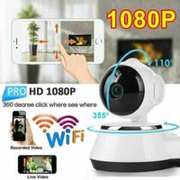 seguridad de la cámara inteligente al por mayor-Nueva cámara IP WiFi V380 Cámara de vigilancia inalámbrica inteligente para el hogar Cámara de seguridad Red micro SD Red giratoria CCTV IOS PC GPS