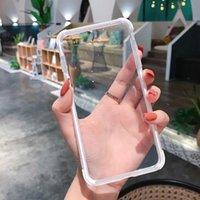 canela venda por atacado-Atacado à prova de choque transparente transparente shinning caso de telefone celular para iphone 8 x x xs max quatro borda protetora case