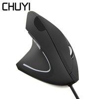 gesunde maus großhandel-CHUYI Left Hand Vertical Mouse Ergonomischer optischer Computer Gesund Mause 800-1200-1600 DPI Gaming Wired Mäuse für PC-Laptop