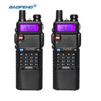 transceptor 3km al por mayor-2 Unids BaoFeng UV-5R Walkie Talkie VHF UHF 3800mAh Banda dual Radio bidireccional Baofeng uv5r Transceptor de radio portátil