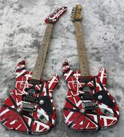 reliquia de guitarras electricas al por mayor-Guitarra eléctrica de alta calidad, Eddie Van Halen Guitarras de mejor calidad, reliquia envejecida, hardwares de calidad mejorada, enviados rápidamente