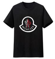 gömlek için yeni stiller toptan satış-Yeni Lüks Mon Marka Erkek T-Shirt Yaz T Gömlek İngiliz Fransız Tarzı Kısa Kollu erkek Tee Hommes Chemise