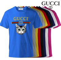 bh shirts großhandel-Großhandel Polo Männer Ralph Herren Designer T-Shirts Herrenbekleidung Luxus-Shirt Mode Paris Tiger Kopf Shirt Langarm Rundhalsausschnitt Baumwolle BH
