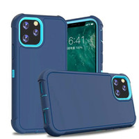 Wholesale Defender Triple Hybrid Case for iphone Pro Max s Plus X XS XR Shockproof Cover