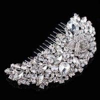 ingrosso perni di capelli per le spose-Elegante perline da sposa con strass per capelli, per capelli, per capelli, per la sposa, per la cerimonia nuziale