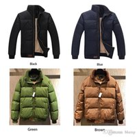famosa chaqueta de hombre al por mayor-2018 Famous Brand Thicken Winter Men Chaquetas Abrigos Exterior Casual Stand Collar Warm Down Jacket con White Duck Down inside