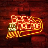 arcade lights بالجملة-New Star Neon Sign Factory 24X20 Inches Real Glass Neon Light for Beer Bar Pub Garage room to the Arcade.