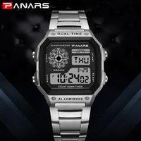 цифровые часы для дайвинга оптовых-PANARS спортивные мужские деловые часы водонепроницаемый таймер обратного отсчета цифровой дайвинг часы мужчины секундомер мужские часы g мода