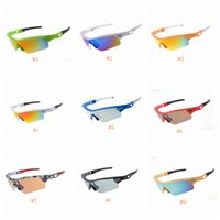 radrennen rennrahmen großhandel-Radfahren Mode Sonnenbrillen Outdoor Racing Sportbrillen Sonnenbrille Marke Half Frame Sonnenbrille Goggle 9 Farben ZZA631