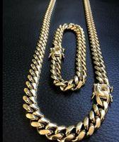цепь ожерелья 24k серебряная оптовых-10-миллиметровая мужская майами кубинская связь