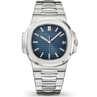 relógios mens mecânica venda por atacado-Relógios de luxo Top Mens Automático Assista Brand New Mens Automatic Mecânica 40mm Men Sport Dive Full Steel Nautilus Auto Data Assista Clássico