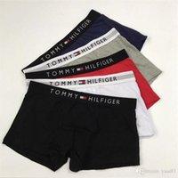 roupa clássica da forma venda por atacado-Clássico de Algodão Macio Homens Boxers INS MODA Respirável Adolescentes Marca Cueca Personalidade Elástica Meninos Casual Underwear