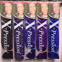 Wholesale ombre xpression braiding hair for sale - Group buy 82inch Xpression Braiding Hair Synthetic Hair Weave JUMBO BRAIDS Ultra Braids Bulks Croxhet Hair Extension Braids Cheveux DHGATE