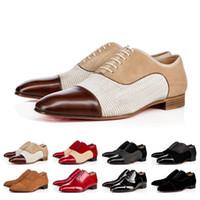 rabatt kleider frauen großhandel-Gentleman Rabatte Sneaker Red Bottom Greggo Orlato Wohnungen Männer Frauen Gehen Hochzeit Kleid Luxuxentwerfer rote Sohle Schuhe