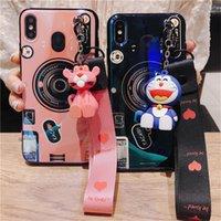 iphone 3d kamera durumlarda toptan satış-3D Kamera Sevimli Oyuncak Silikon Kılıf Samsung Galaxy S10 Artı S9 S8 Not9 8 M30 M20 A10 A20E A10E A30 A40 A40 A50 A70 A80 Kordon ile Durumda