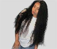 6a sınıf saç toptan satış-Sınıf 6A Tam Dantel İnsan Saç Peruk Kıvırcık Dantel Ön Peruk Siyah Kadınlar Için Brezilyalı Kıvırcık Saç Peruk Tutkalsız İnsan Saç Peruk