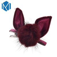 Wholesale easter hair clips for sale - Group buy Fashion Girls Pompon Ball Hairpin Easter Bunny Hair Clips Cat Ears Headwear Hair Ornament Sweet Hairgrip With Faux Fur Ball Clip