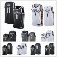 basketbol şort xl toptan satış-Brooklyn Erkekler Nets Kevin 7. Durant Kyrie # 11 Irving Jersey 72 Biggie Caris 22 LeVert Sehir Gerileme Şort Basketbol Formalar Cum