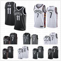 baloncesto hombres cortos al por mayor-Hombres Brooklyn Nets de Kevin Durant # 7 # 11 Kyrie Irving Jersey 72 Biggie Caris 22 LeVert La Ciudad de la vuelta de pantalones cortos de baloncesto jerseys vie