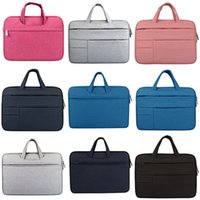 Wholesale felt macbook sleeve for sale - Group buy 500 Inch Wool Felt Inner Notebook Laptop Sleeve Bag Case er Carrying Handle Bag For Macbook Air Pro Retina