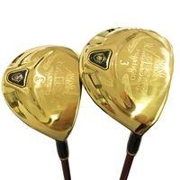 новые крышки для гольфа оптовых-Новые гольф-клубы Maruman Majesty Prestigio 9 Golf Fairway Wood 3 / 5wood Loft Гольф-дерево Графитовый вал и крышка головки булавы Бесплатная доставка